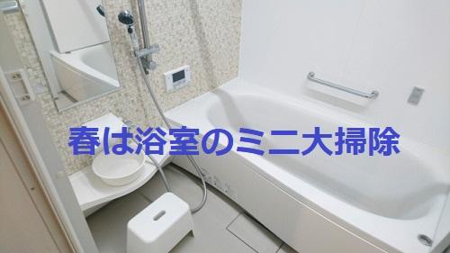【ズボラ掃除】春になったらお風呂のミニ大掃除をやりませんか!